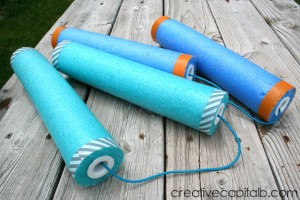 Easy Pool Noodle Nunchucks_quick DIY toy _boyswillbeboys