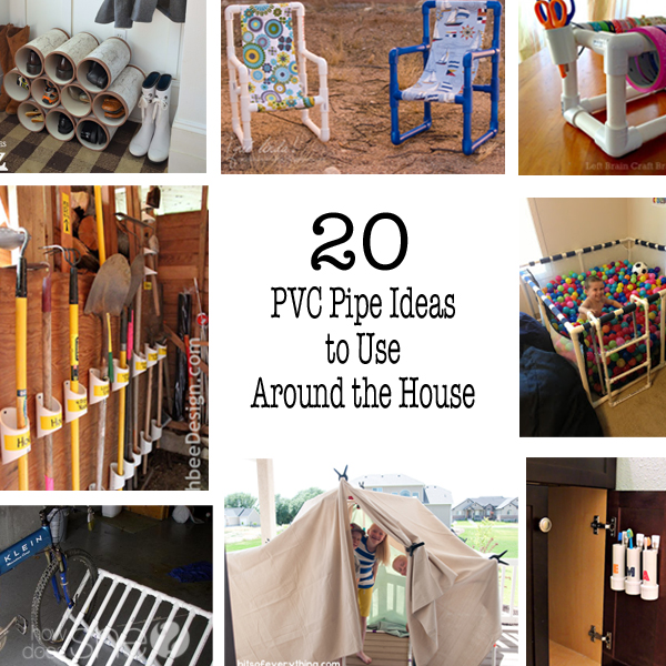 20 PVC Pipe Ideas to Use Around the House