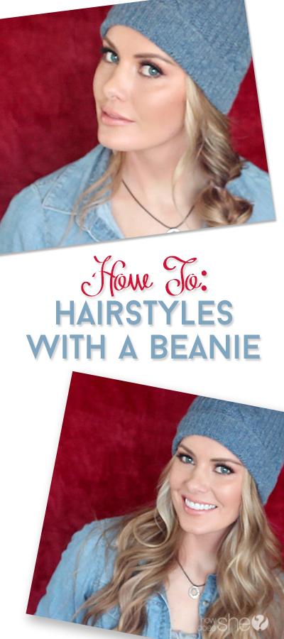 beanie hairstyles pinterest