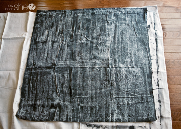 A DIY project to turn a Drop Cloth into a cool Chalkboard Sign