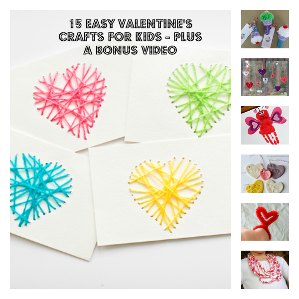 15 Easy Valentine's Crafts For Kids