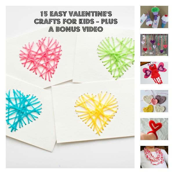 15 Easy Valentine's Crafts For Kids