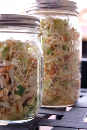 mason jar oriental salad
