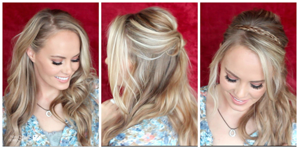 Romantic Hairstyles for Valentines Day + 3 Outfit Ideas!