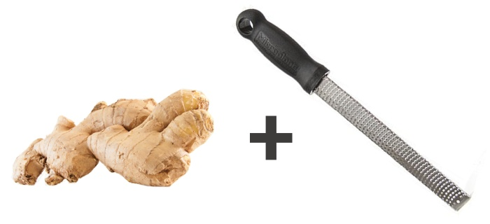 1. Grated ginger