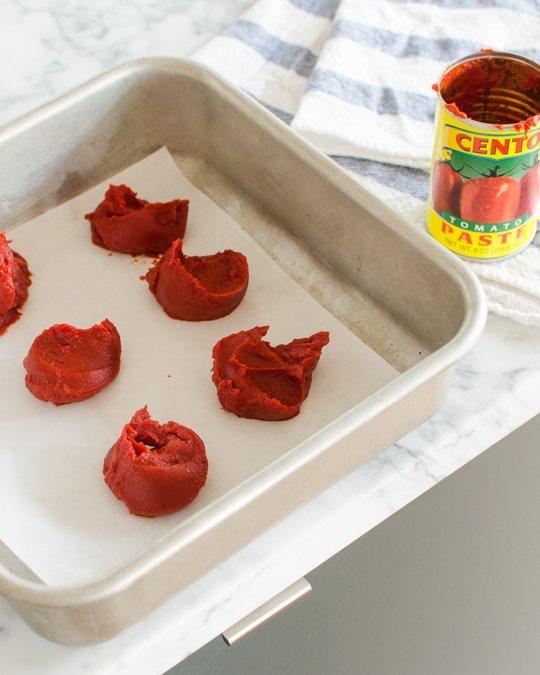 10. freeze tomato paste