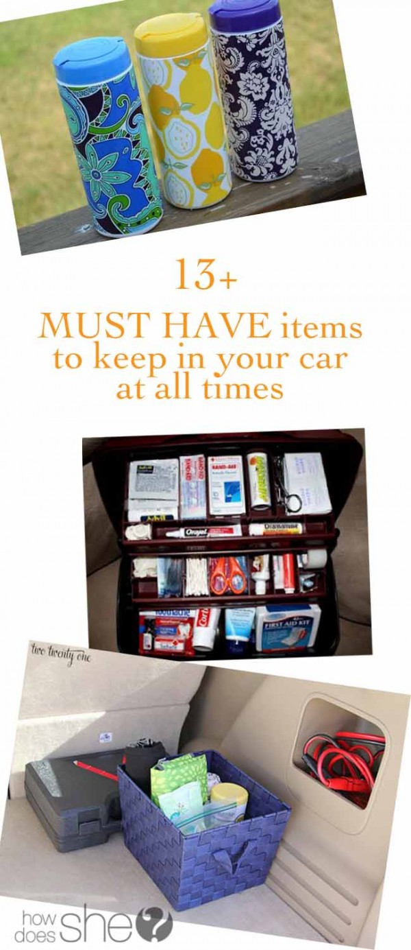 13+ MUST HAVE items to keep in your car at all times
