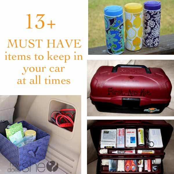 13 Must Have items to keep in your car at all times