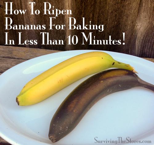 15. ripen bananas