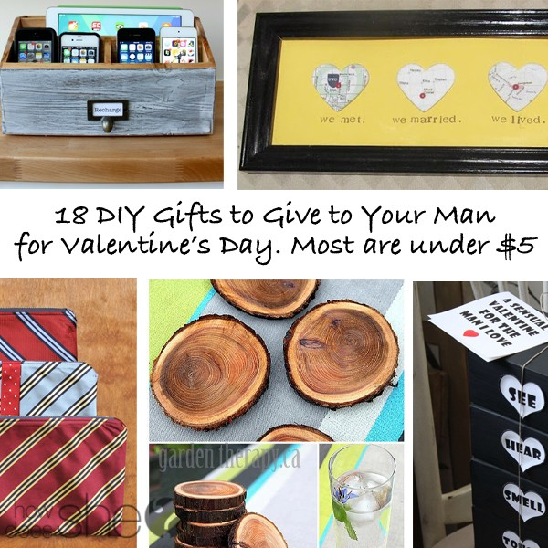 18 DIY Gifts to Give Your Man for Valentine's Day