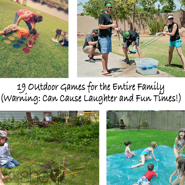 19 Outdoor Games for the Entire Family (Warning- Can Cause Laughter and Fun Times)