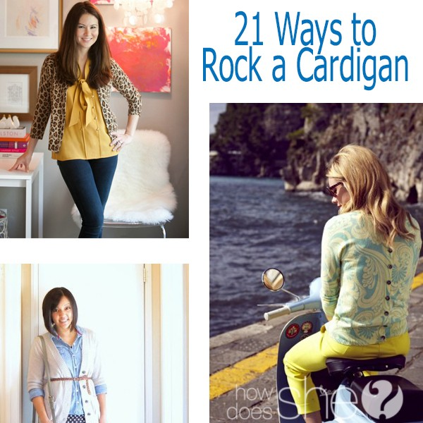 21 ways to rock a cardigan ways to wear a cardigan collage