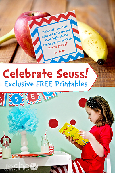 Celebrate Seuss! Exclusive Free Printables from howdoesshe copy