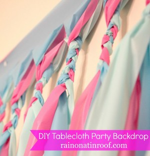 DIY Tablecloth party backdrop