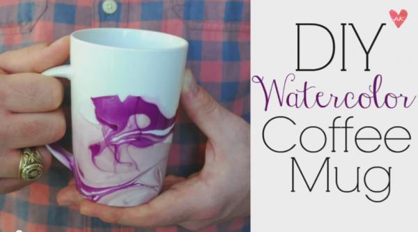 DIY Water color mug