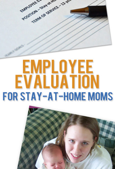 Employee Evaluation for Stay-at-Home Moms