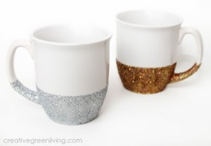 How to make dishwasher safe glitter mugs- it's hard to believe it's this easy!