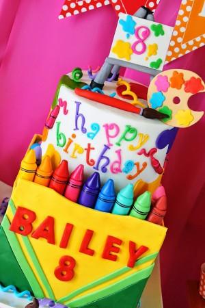 art supplies cake