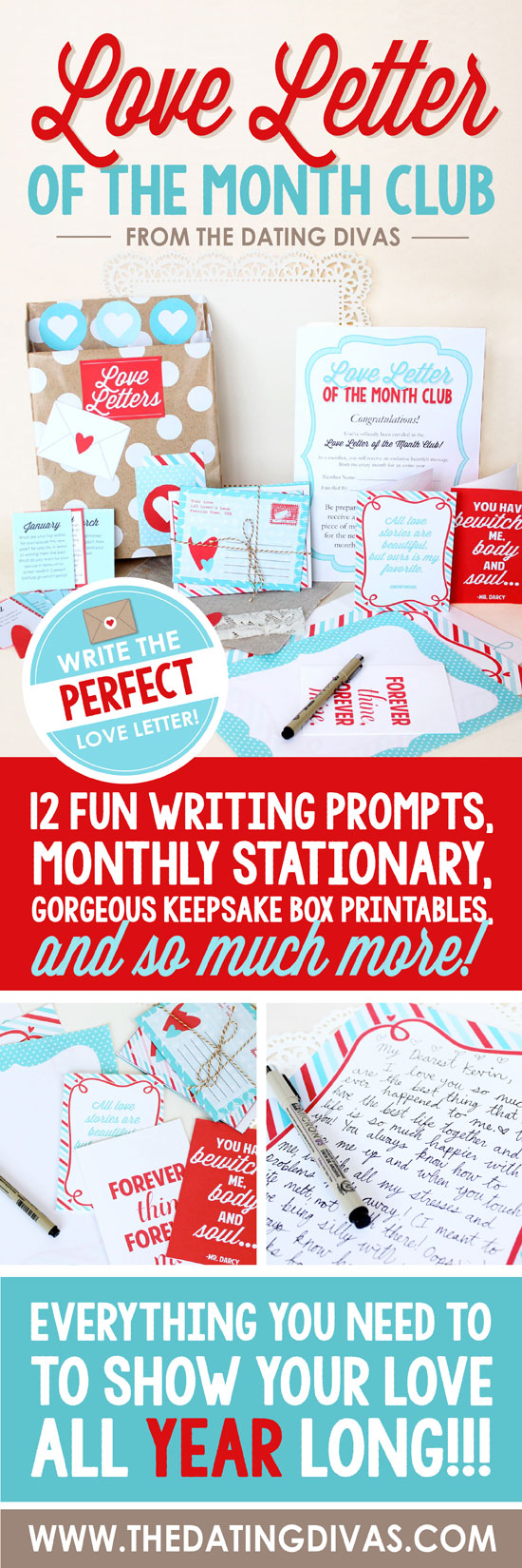 Love Letter of the Month Club – The Perfect Gift for the One You Adore!