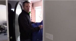 Opening a door when your hands are full