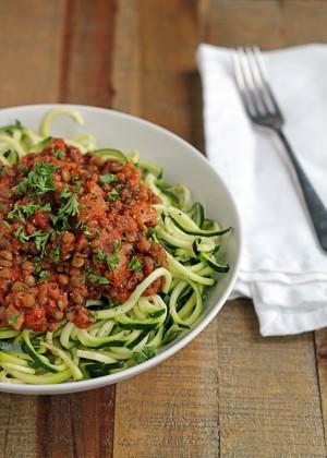 Zucchini-Lentil-Spaghetti