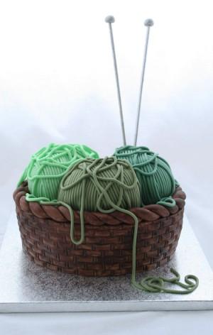 sewing basket cake