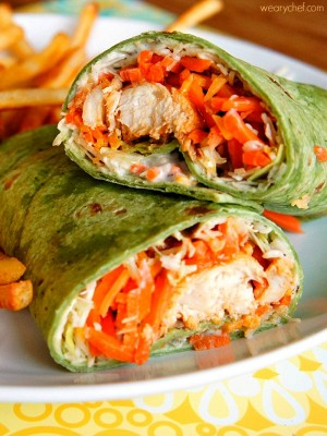 Buffalo Chicken Wraps Are Quick To Make And A Great Meal For The Entire Family