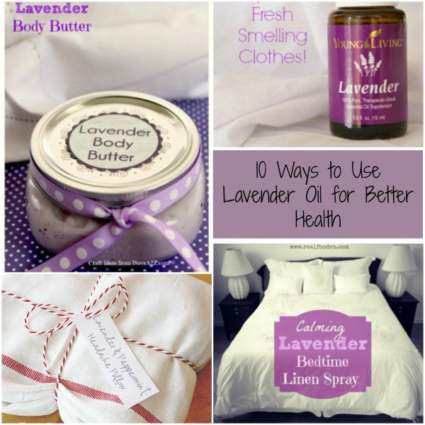 ways to use lavender oil collage