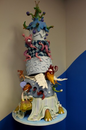 mythical creatures cake
