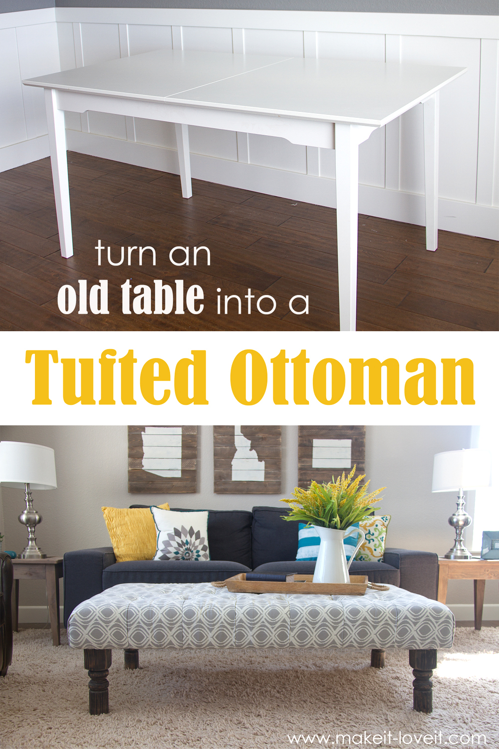 table to ottoman