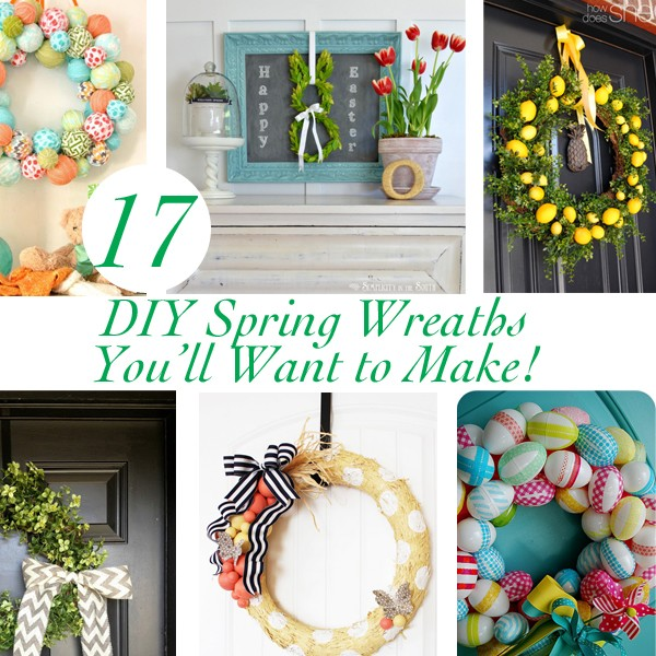 17 DIY Spring Wreaths You'll Want to Make