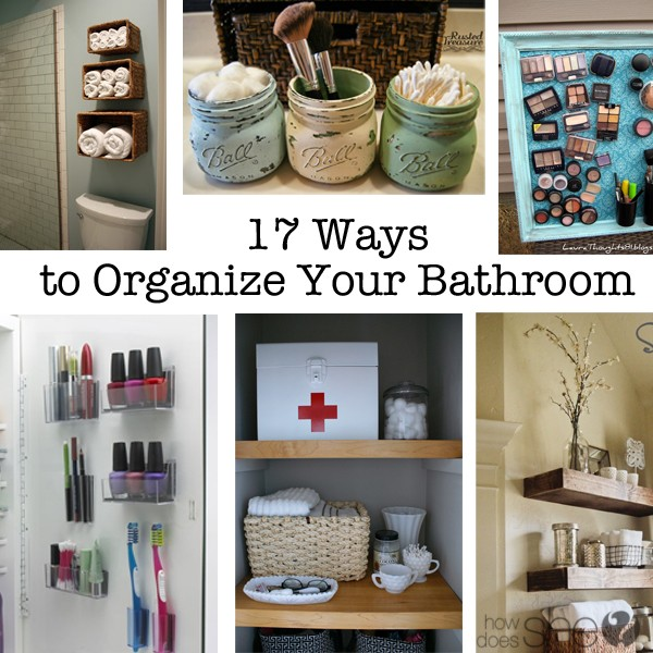 how to organize your bathroom collage