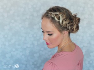 Beautiful braided bun tutorial (4)