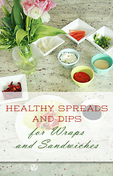 Healthy Spreads and Dips for Wraps and Sandwiches