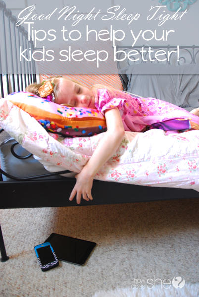 Helping your kids get a better nights sleep
