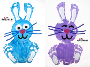 Paper-Plate-Easter-Craft-make-a-footprint-bunny