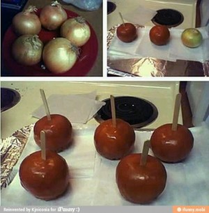chocolate covered onion