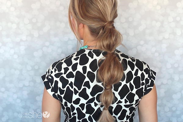 Bubble Ponytail Hair Tutorial
