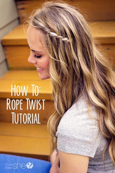 How To: Rope Twist Tutorial - www.howdoesshe.com