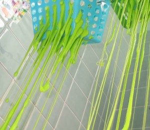 messy bath play slime baskets 9
