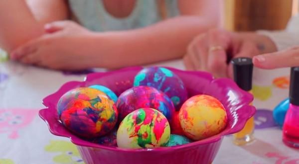 nail polish easter eggs