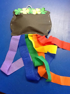 f4f59d748 13. A craft and a writing assignment. This pot of gold is so fun hanging  from the classroom ceiling!