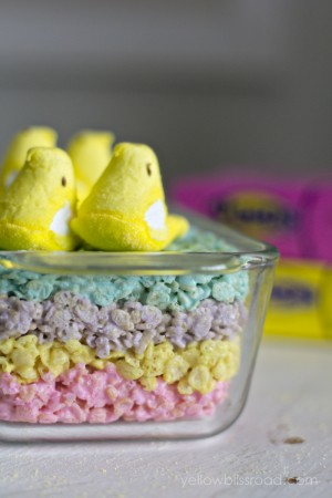 rice crispy peep treats