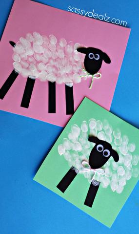 sheep-fingerprint-easter-craft
