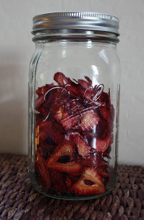 strawberries, after in jar