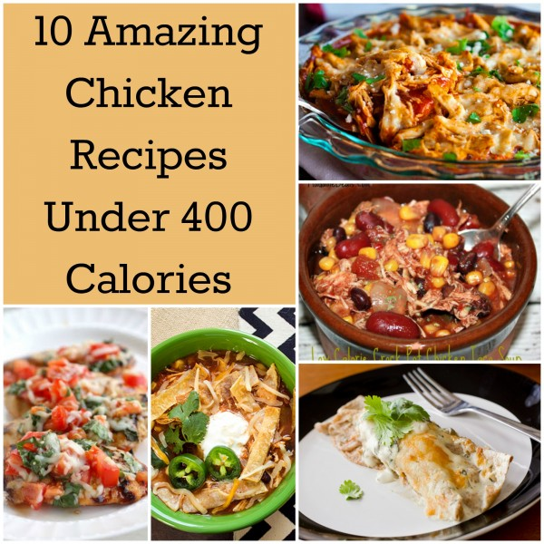 chicken recipes under 400 calories