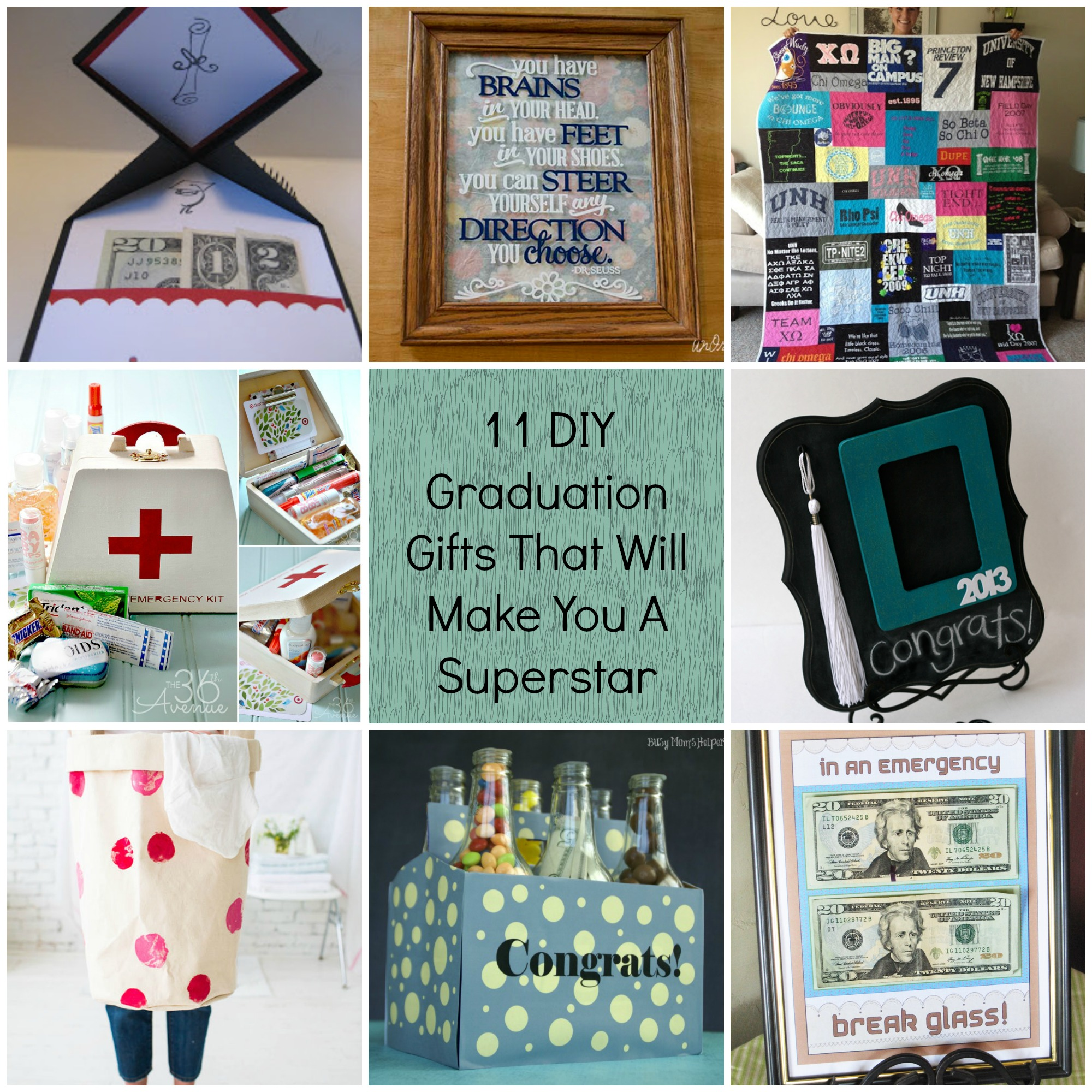 Graduation Party Ideas: 11 DIY Graduation Gifts That Will Make You A Superstar