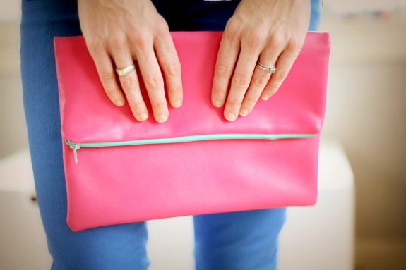 12. leather clutch