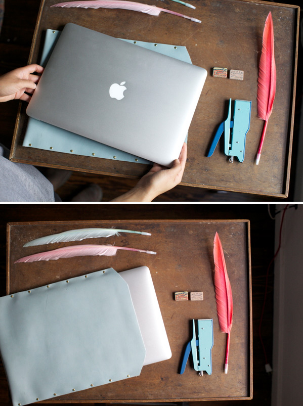13. leather laptop case