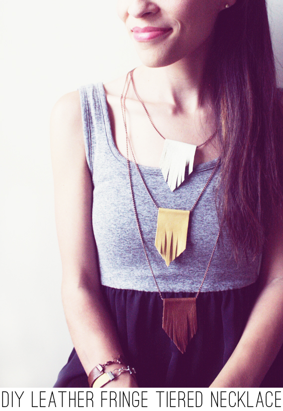 14. leather fringe necklace